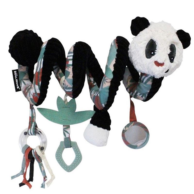 Deglingos Βελούδινο σπιράλ δραστηριοτήτων Panda ''ROTOTOS''