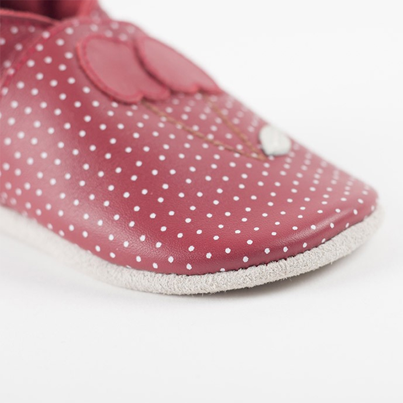 a350fb2369c Bobux: Soft sole Cherry Dots Red